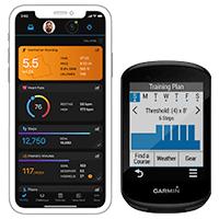 Application Garmin Connect et Edge 830
