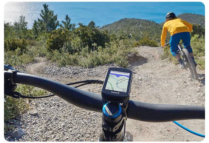 Cartographie dynamique et guidage GPS sur l'Edge 830