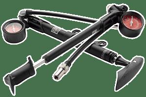Pompe pour fourche et suspension vélo