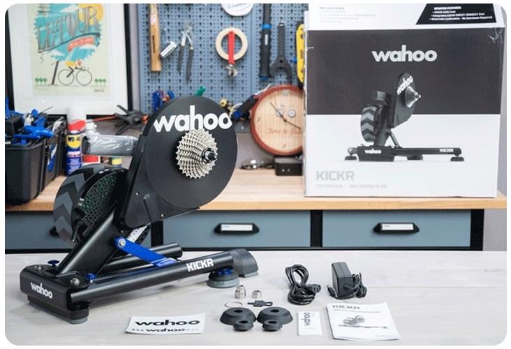 Contenu de la boîte du Wahoo Kickr V5